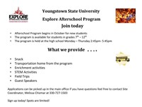 The YSU Explore Program