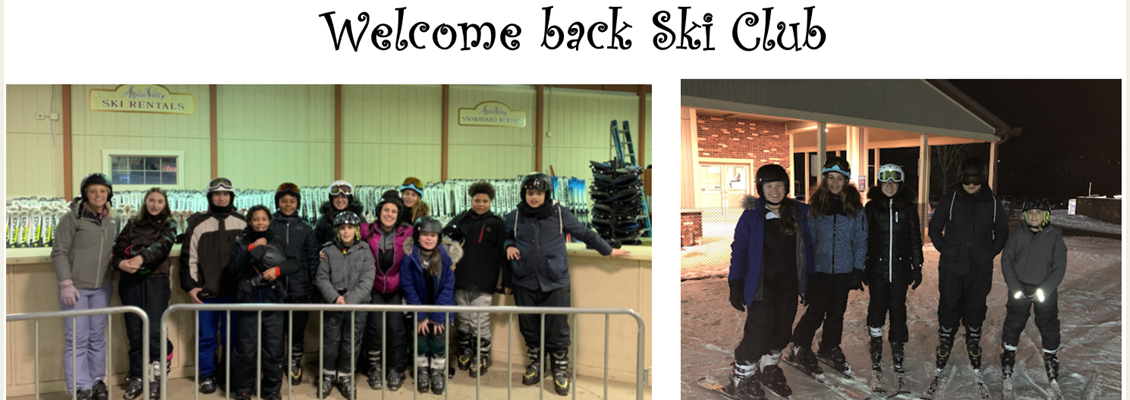 Ski Club is back and the kids had a great time.