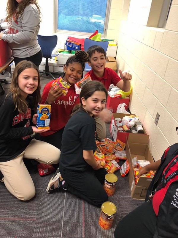 2018 Student Council Food Drive