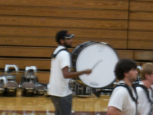 CMHS alumni Ryan Herns playing with the YSU drum line.