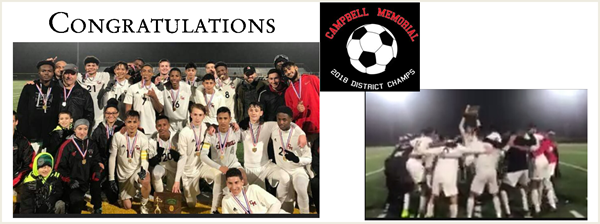 Congratulations and Thank you for a great soccer season !!!