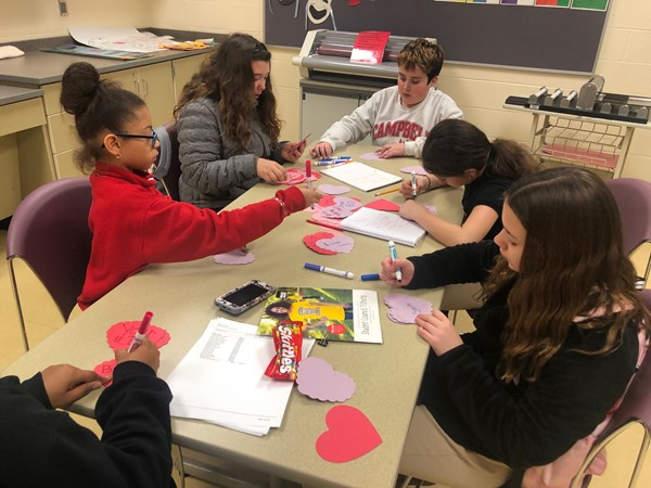 Student Council spreading some Valentine Cheer!
