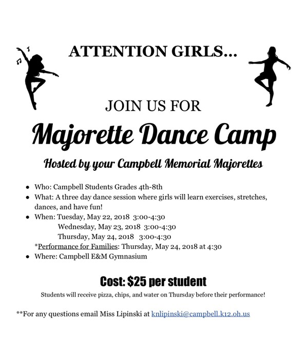 Majorette Dance Camp Memorial High School