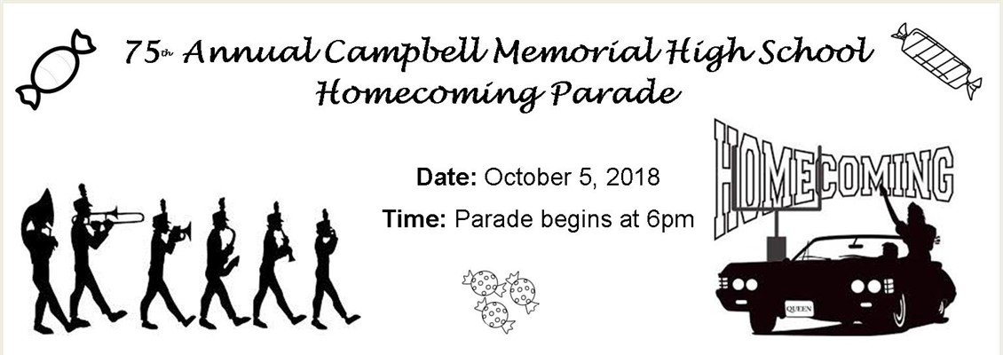 75th Annual Campbell Memorial High School Homecoming Parade Oct. 5th @ 6pm