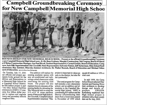 Groundbreaking for the new CMHS