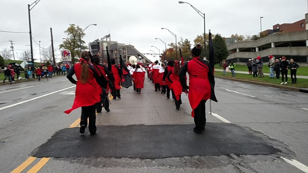 Campbell Marching Pride in YSU's  homecoming parade